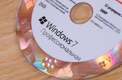 Aufkleber Windows-7 getrennt auf weißem Hintergrund Stockfoto