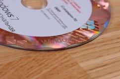 Aufkleber Windows-7 getrennt auf weißem Hintergrund Stockfotografie