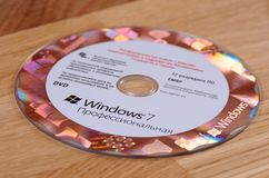 Aufkleber Windows-7 getrennt auf weißem Hintergrund Lizenzfreie Stockfotografie