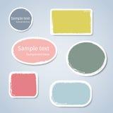Aufkleberaufkleber des farbigen Papiers mit Raum für Text stock abbildung