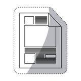 Aufkleberschattenbildpapierblatttext und -graphiken lizenzfreie abbildung