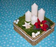 Aufkommen Wreath mit Kerzen Lizenzfreies Stockbild