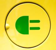 Aufladenzeichen des elektrischen Fahrzeugs Stockfoto