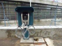 Aufladungsanlagen des Elektro-Mobils Lizenzfreies Stockbild