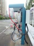 Aufladungsanlagen des Elektro-Mobils Lizenzfreies Stockfoto