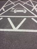 Aufladungszeichen des Fahrzeugstroms Stockfoto