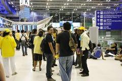 AUFLAGE im BKK Flughafen Lizenzfreie Stockfotografie