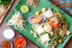 Auflagen-thailändische Meeresfrüchte Stockbilder
