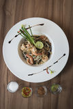 Auflagen-thailändisches Lebensmittel stockfoto