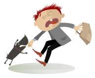 Aufmerksamkeit! Der aggressive Hund vektor abbildung