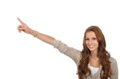 Aufmerksamkeit der Frau zu einer Referenz Lizenzfreie Stockbilder