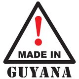 Aufmerksamkeit hergestellt in Guyana stock abbildung