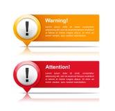 Aufmerksamkeit und warnende Fahnen stock abbildung