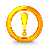 Aufmerksamkeit. Verkehrszeichen auf weißem Hintergrund Lizenzfreies Stockbild