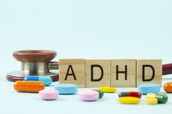 Aufmerksamkeits-Defizit-Hyperaktivitäts-Störung oder ADHD-Konzept stockbild