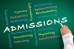 Aufnahme-Abteilung von Medizin lizenzfreie abbildung