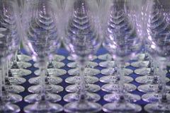 Aufnahme - Darstellung - Gläser - Service lizenzfreies stockfoto