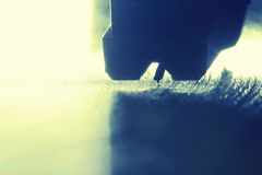 Aufnahmenkopf auf der Drehscheibe Stockbild
