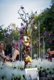 Aufnahmetabelle an der Hochzeit Lizenzfreie Stockbilder