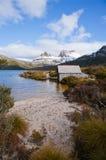 Aufnahmevorrichtungs-Berg in Tasmanien Stockfotos