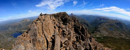 Aufnahmevorrichtungs-Gebirgsgipfel Tasmanien Stockfotografie
