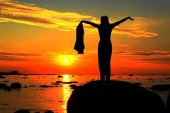 Aufpassen des Sonnenuntergangs Lizenzfreies Stockbild