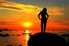 Aufpassen des Sonnenuntergangs Lizenzfreie Stockfotografie