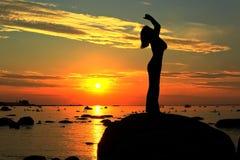 Aufpassen des Sonnenuntergangs Stockbilder