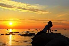 Aufpassen des Sonnenuntergangs lizenzfreies stockfoto