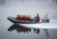 Aufpassende Ausflüge des Wals, Reykjavik Lizenzfreies Stockbild