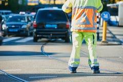 Aufpassende Bestellung des Verkehrssteuerungs-Managers Stockfotografie