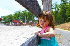 Aufpassendes Pferdroping stockbilder