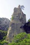 Aufrechter Felsen Stockbilder