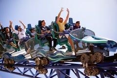 Aufregende Achterbahn Lizenzfreies Stockfoto
