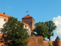 Aufregende Ansicht von einer von Wawel-` s Anziehungskräften lizenzfreie stockfotos