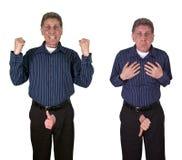 Aufrichtbare Funktionsstörung-sexueller Fähigkeits-Mittelalter-Mann Stockbild