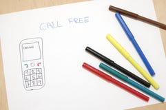 Aufruf geben frei Lizenzfreie Stockbilder