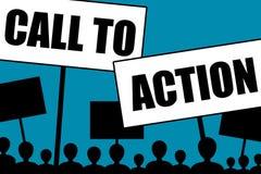 Aufruf zum Handeln stock abbildung