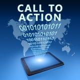Aufruf zum Handeln lizenzfreie abbildung