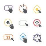 Aufruf zum Handelns-Ikonen-Grafiken stock abbildung
