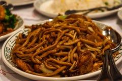Aufruhr Fried Chinese Noodle Lizenzfreie Stockfotos