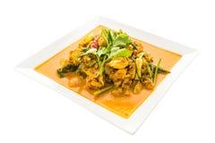 Aufruhr gebratene Krabbe mit Curry Stockfoto