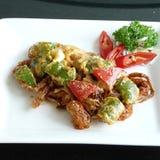 Aufruhr gebratene weiche Krabbe in der Currysoße Stockfoto