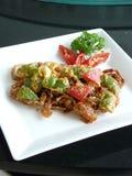 Aufruhr gebratene weiche Krabbe in der Currysoße Stockfotos