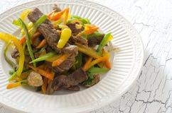 Aufruhrfischrogenrindfleisch Stockfotos