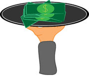 Aufschlags-Geld Stock Abbildung