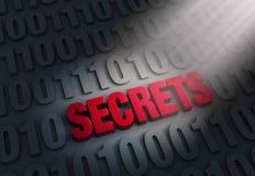Aufschlussreiche Computer-Geheimnisse Stockfotografie