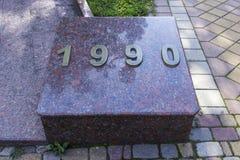 Aufschrift 1990 Lizenzfreies Stockfoto