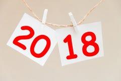Aufschrift 2018 auf dem Hintergrund Lizenzfreie Stockfotografie