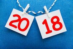 Aufschrift 2018 auf dem Hintergrund Stockfoto